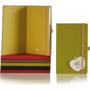 Medium notebook ruled apple paper Appeel- mck promotions
