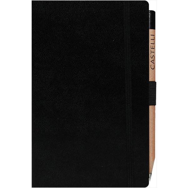 Medium notebook ruled paper Paros (BLACK)- mck promotions