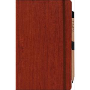 Medium notebook ruled paper acero (rust)- mck promotions