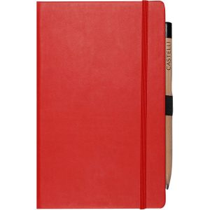 Medium notebook ruled paper tucson (red)- mck promotions