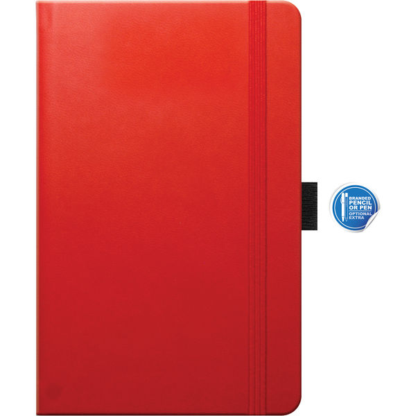 Pocket notebook Ruled Tucson (red)- mck promotions