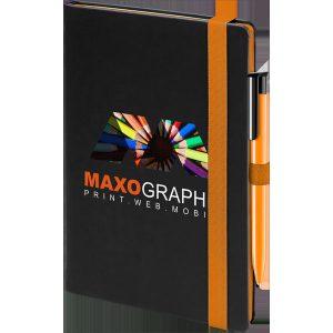 cody notebook (black,orange)- mck promotions