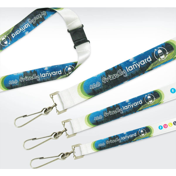 green & good recycled pet deluxe lanyards 15mm