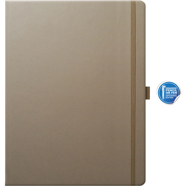 large notebook ruled paper tucson (taupe)- MCK PROMOTIONS