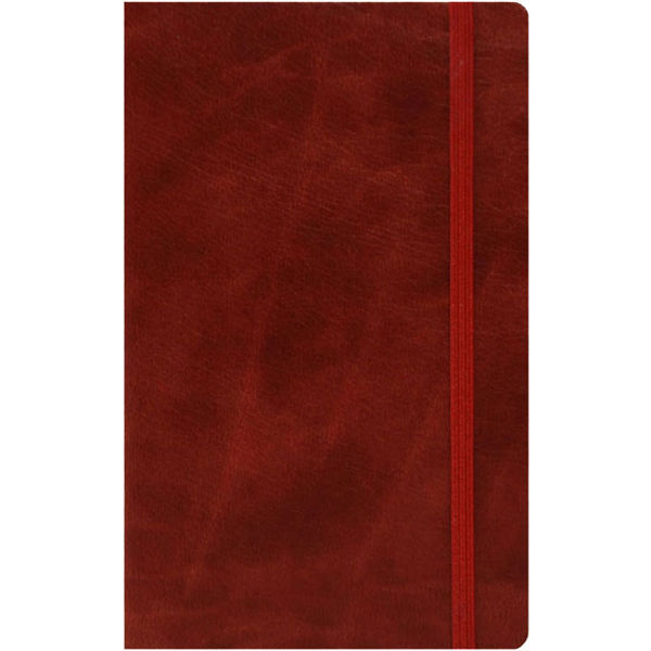 medium notebook ruled paper novara flexible (chestnut)- mck promotions