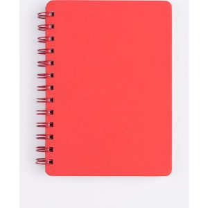 mini spiral notebook (red)- mck promotions