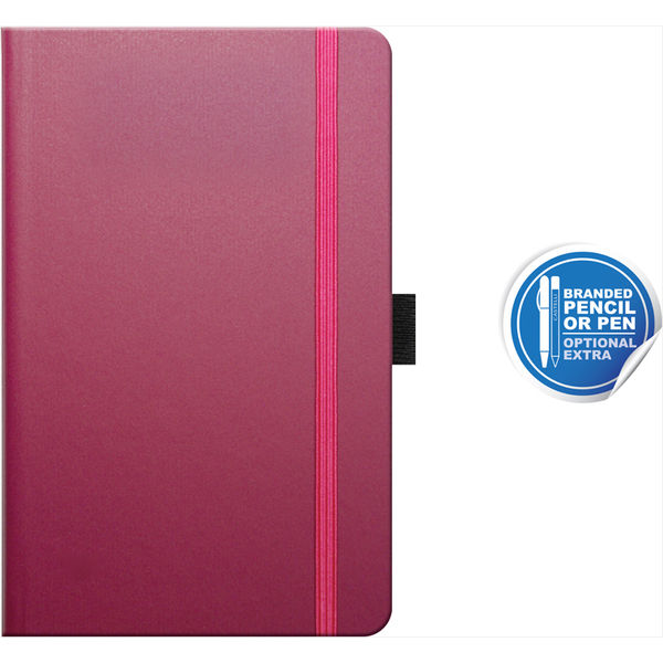 pocket notebook ruled matra (plum) - mck promotions