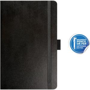 pocket notebook ruled paros black- mck promotions