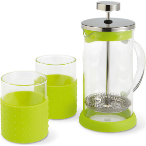 350ml coffeepot with 2 glasses- mck promotions