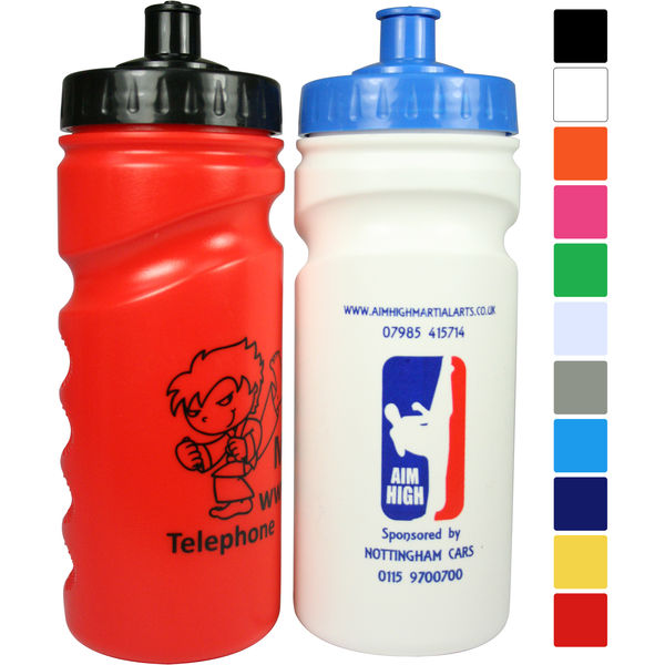 500ml finger grip sports bottle- mck promotions