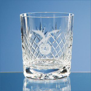 Durham lead crystal panel whiskey tumbler- mck promotions