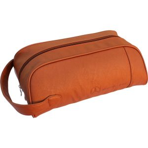 Leather golf shoe bag- mck promotions