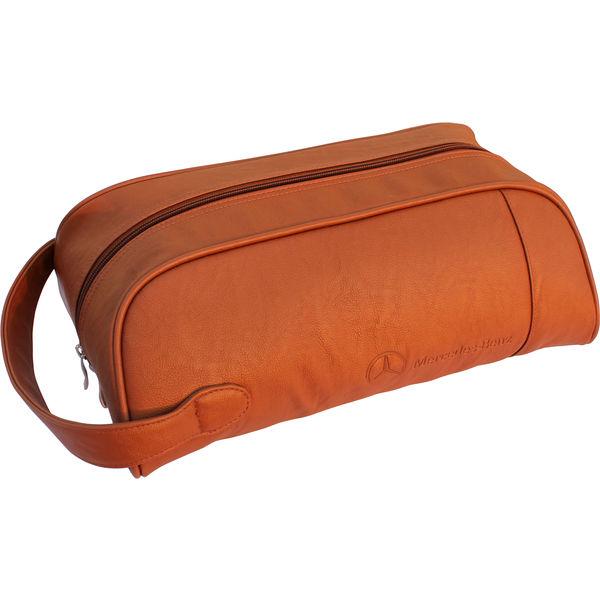 Leather golf shoe bag- mck promotions
