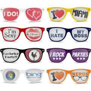Sunglasses- print on lens- mck promotions
