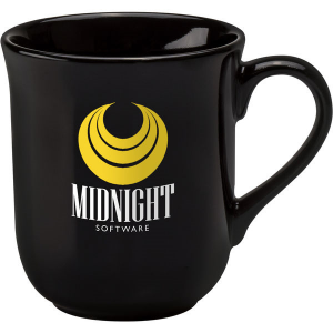 bell coloured mug (black)- mck promotions