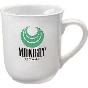 bell white mug- mck promotions