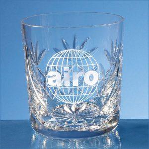 blenheim lead crystal panel whiskey tumbler- mck promotions
