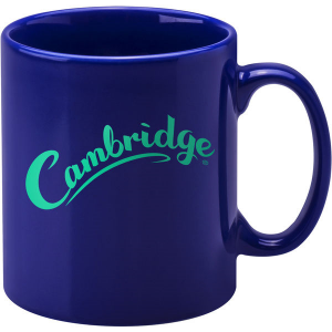 cambridge coloured mug (dark blue)- mck promotions