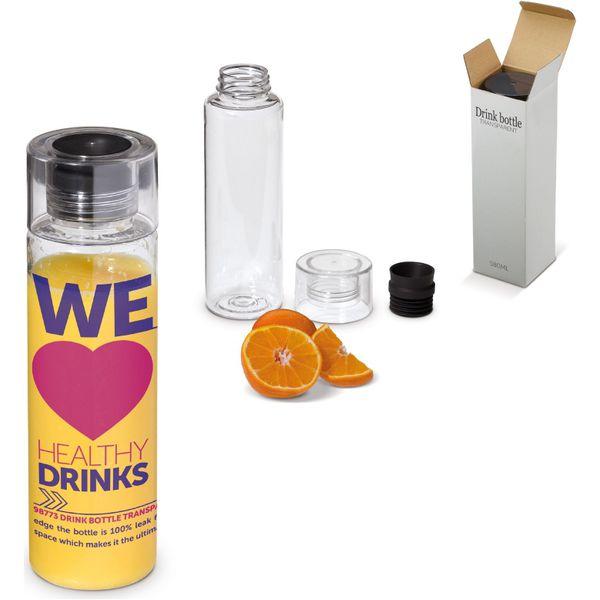 drink bottle transparent- mck promotions