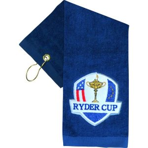 embroidered cotton golf towel- mck promotions