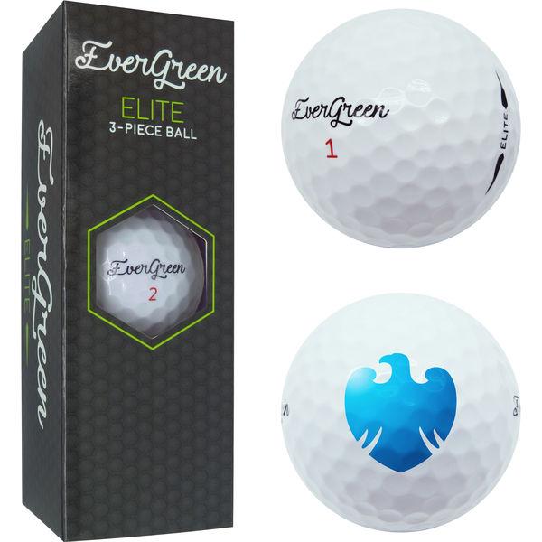evergreen golf elite 3 piece balls- mck promotions