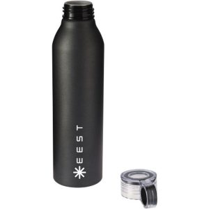 grom aluminium sports bottle(black)- mck promotions