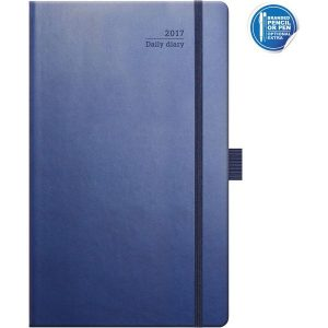 ivory medium daily international diary matra (navy)- mck promotions
