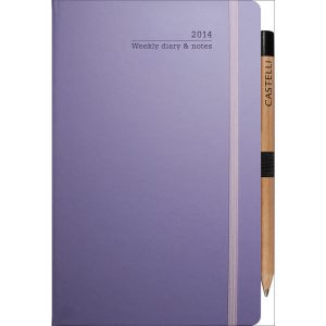 ivory medium weekly diary matra (lilac)_ mck promotions