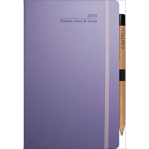 ivory medium weekly diary matra (lilac)_ mck promotions
