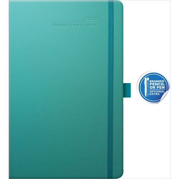 ivory medium weekly diary matra (turquoise)- mck promotions