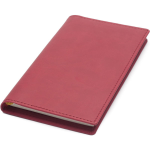 newhide pocket diary notebook wallet clear pockets & comb bound insert(pink)- mck promotions