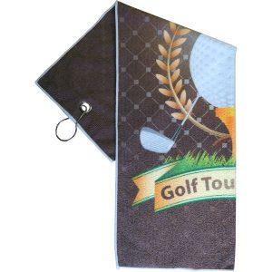 printed microfiber golf towel- mck promotions