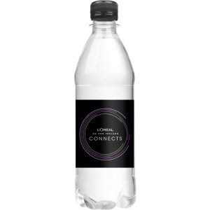 promotional bottled water 500ml coloured caps(black)- mck promotions