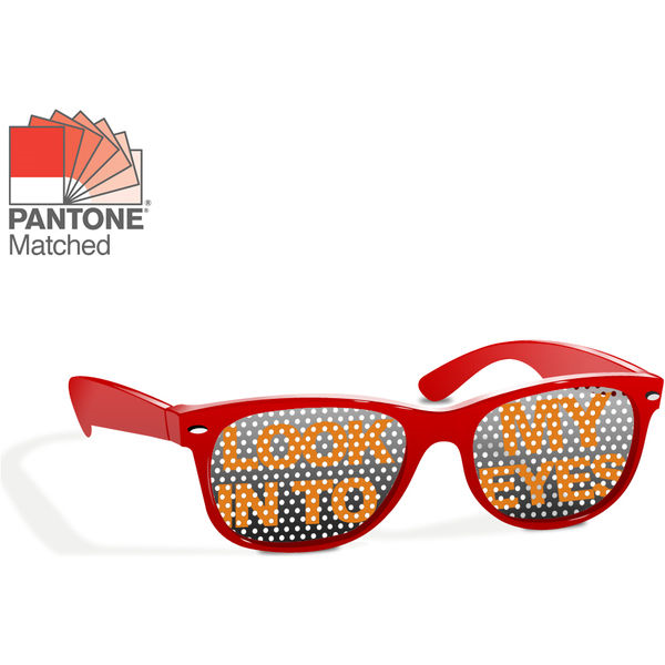 sunglasses print on lens (red)- mck promotions