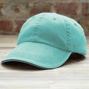 Anvil low-profile pigment dyed cap (aqua)- mck promotions