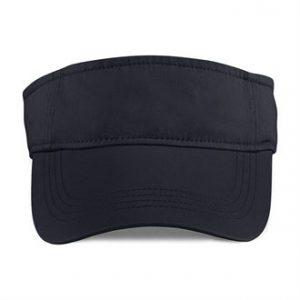 Anvil low-profile twill visor (black)- mck promotions