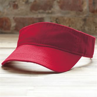 Anvil low-profile twill visor (red)- mck promotions