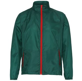Contrast lightweight jacket (green)- mck promotions