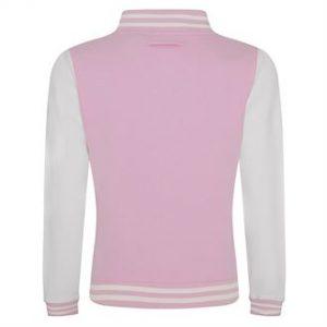 Girlie varsity jacket (baby pink)- mck promotions