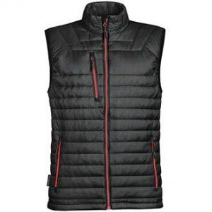 Gravity thermal vest (black, red zip)- mck promotons