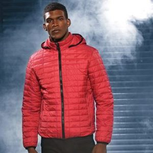 Honeycomb hooded jacket (red)- mck promotions