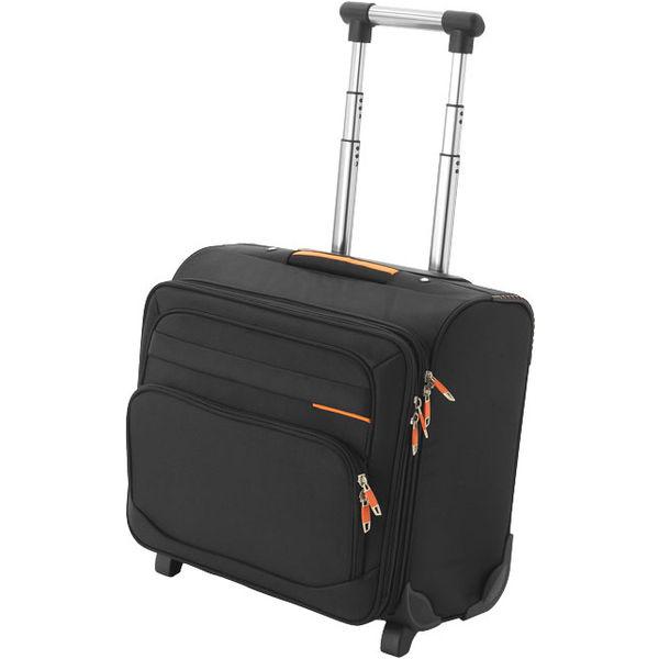 Orange line business bag on wheels- mck promotions