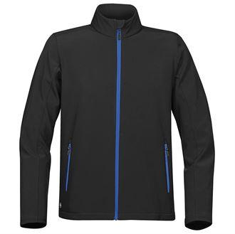 Orbiter softshell (black, blue zip)- mck promotions