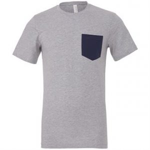 Unisex Jersey short sleeve pocket t-shirt (GREY)- mck promotions
