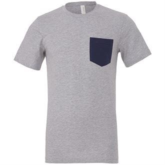 Unisex Jersey short sleeve pocket t-shirt (GREY)- mck promotions