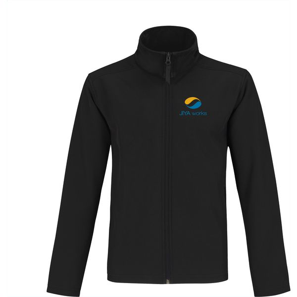 B&C Europe Softshell mens jacket (black)- mck promotions