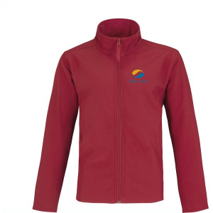 B&C Europe Softshell mens jacket (red)- mck promotions