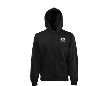 Fruit Hooded Sweatjack mens (black)-mck promotions