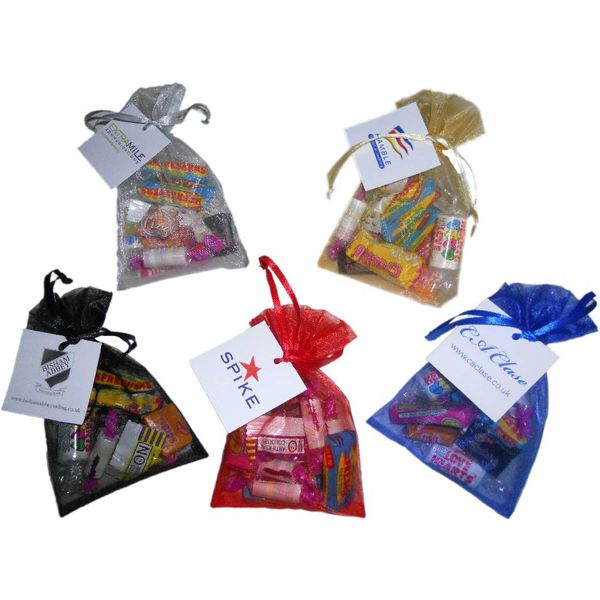 Retro Sweets in an organza bag 75g - MCK Promotions