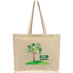 10oz Natural Cotton Canvas Bag with Gusset- MCK Promotions